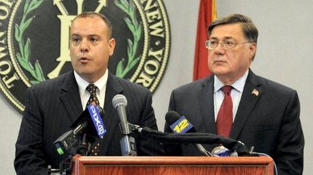Brookhaven Councilman Dan Panico, left, and Town Supervisor