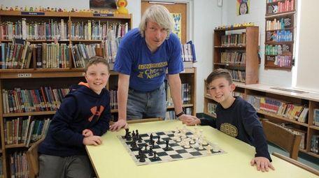 Kidsday reporters Brady Gelling and Henry Bosse work
