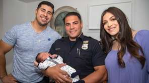 Lynbrook Police Officer Anthony Falsitta, who helped deliver