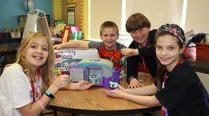 Kidsday reporters Madeline Duncan, Dylan Kleeman, Finn Capozzi