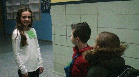 Kidsday reporter Emma Shanahan is a peer leader