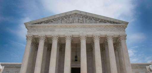 The Supreme Court building seen on June 15,