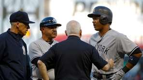 Starlin Castro #14 of the New York Yankees