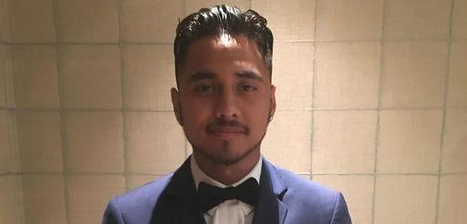 Brian Alvarez-Luna at the Comsewogue High School prom