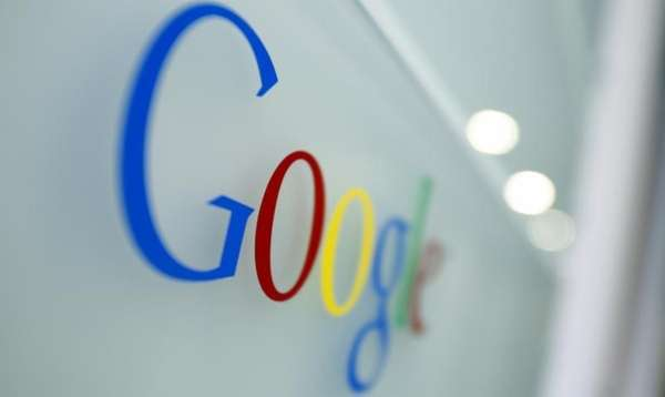 The Google logo is seen at the Google
