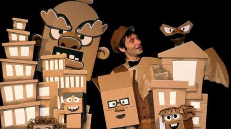 Creative cardboard turns into puppets in Sag Harbor.