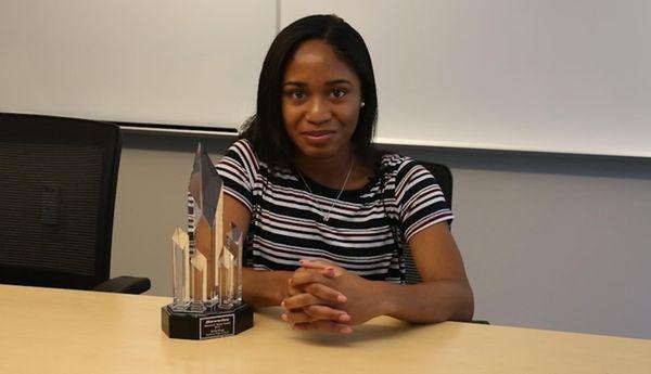 Baldwin senior Kelsi King received the 2017 Newsday