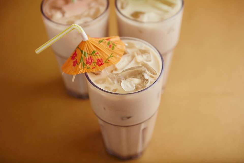 Horchata is served at Nelly's Taqueria in Hicksville.