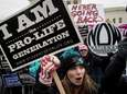 Both anti-abortion advocates and abortion rights advocates rally
