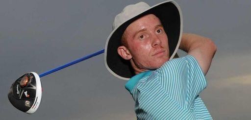 Farmingdale'sMatt Lowe poses after golfing the front nine