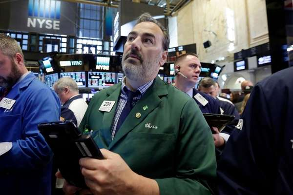 Trader Christopher Cornette on the floor of the