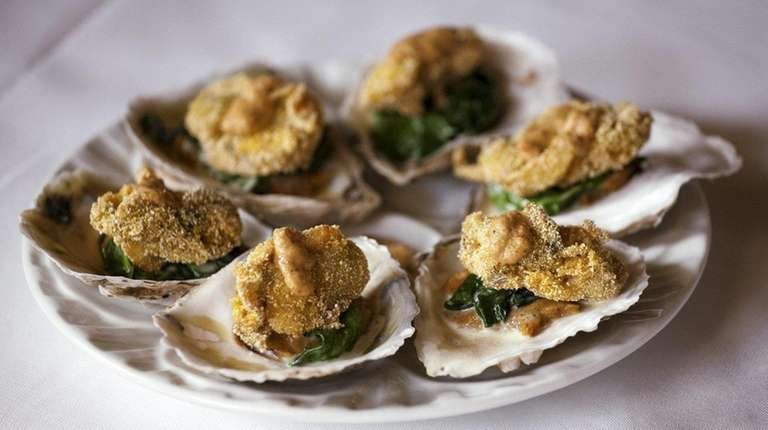 Oysters Rubio at Chachama Grill in East Patchogue
