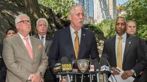 NYPD Chief of Detectives Robert Boyce and other