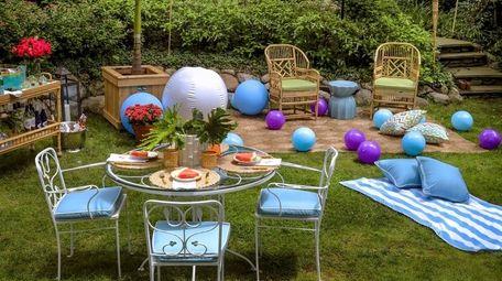 Designer Amal Kapen's backyard is ready for a
