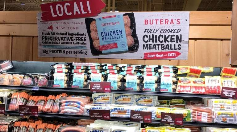 Butera's Chicken Meatballs on the shelves at Stew