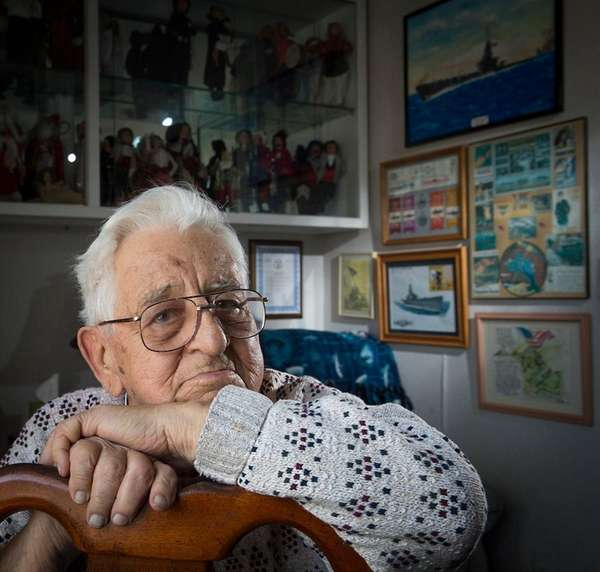 WWII veteran Joe Librizzi at his Oceanside home