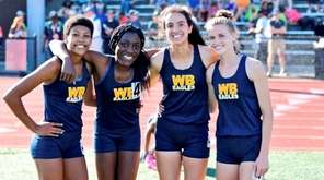 West Babylon girls 4 x 400 relay team,