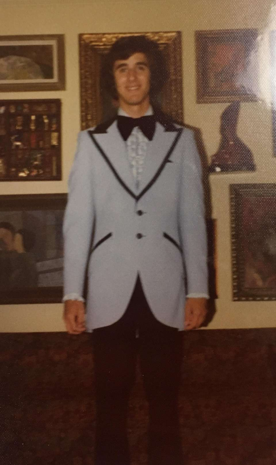 David Weiss dressed his best for the Elmont