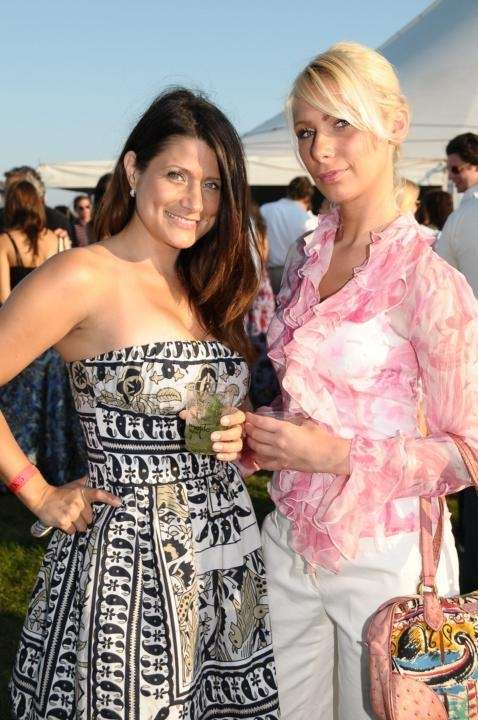 Anne-Marie Martinez and Greta Jovanovic attend the Mercedes