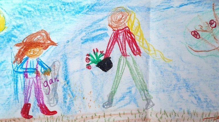 Carolina Minino, a second grader in MaryBeth Thomas'