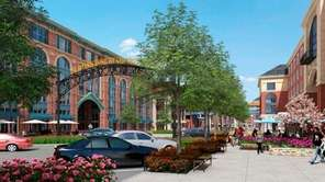 An architect's rendering of the Ronkonkoma Hub project.