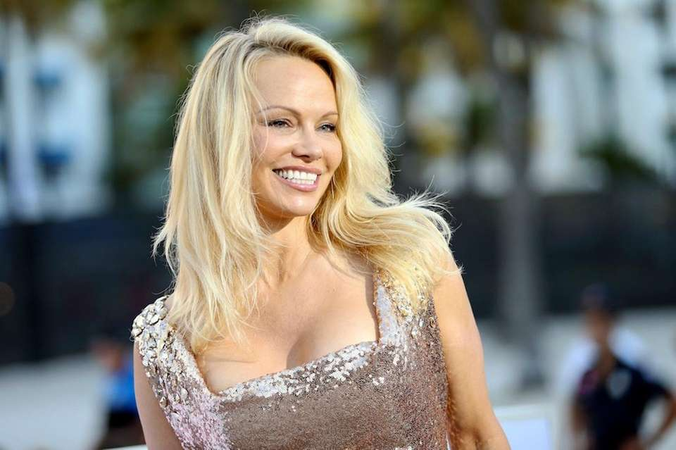 Canadian-American actress Pamela Anderson, whose claim to fame