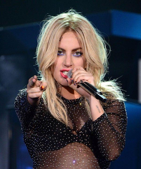 Lady Gaga at the Coachella festival in Indio,