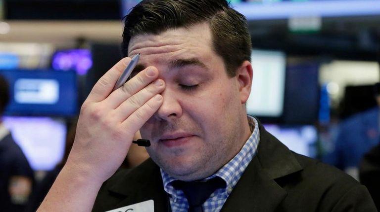 Trader Joseph Lawler at the New York Stock