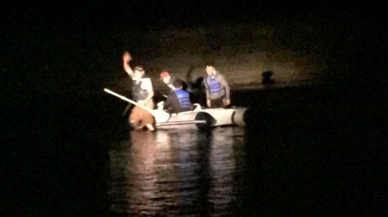 Suffolk County Police Marine Bureau officers rescued four