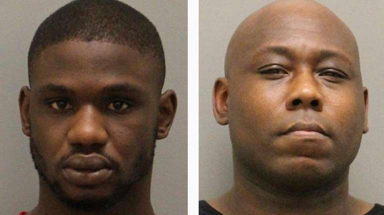 Tariq Williams, left, and Kennyatta Johnson were arrested