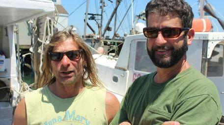 Montauk fishermen and authors Anthony Sosinski, left, and