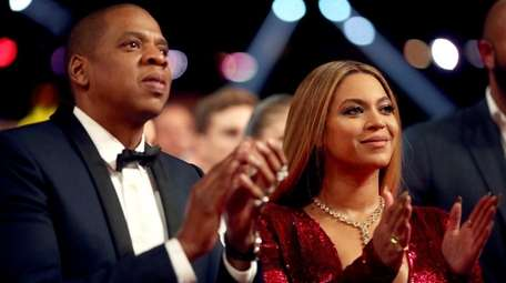 Jay-Z and Beyoncé at the Grammy Awards in