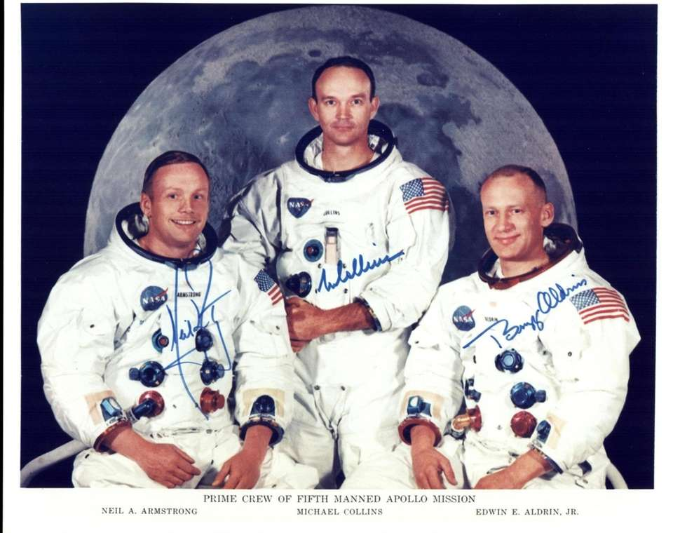 Official crew photo of the Apollo 11 Prime
