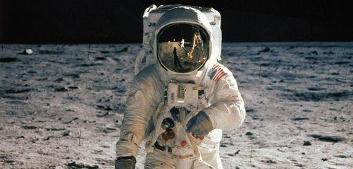 "Astronaut Edwin ""Buzz"" Aldrin, the second man to"