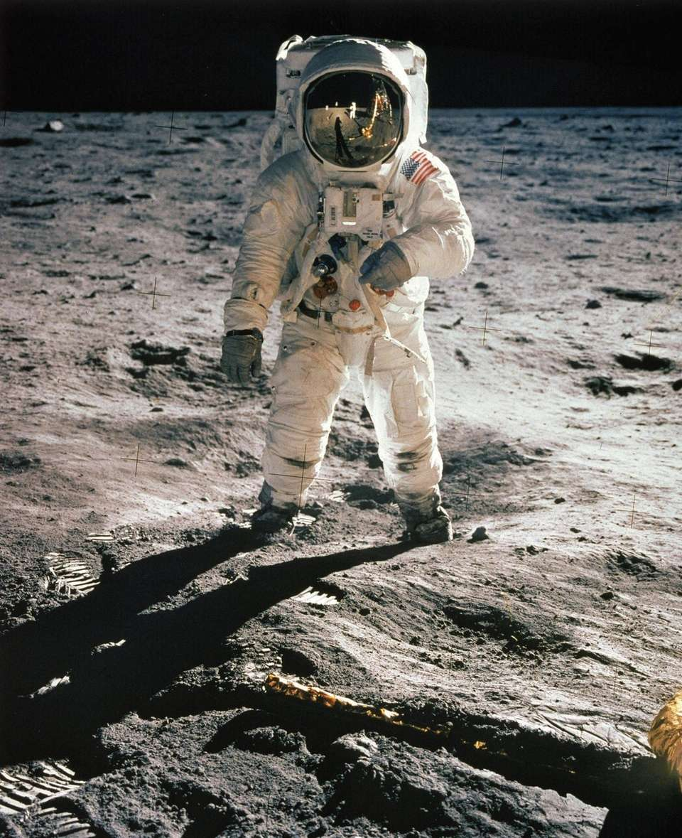 "Astronaut Edwin ""Buzz"" Aldrin, the second man to"