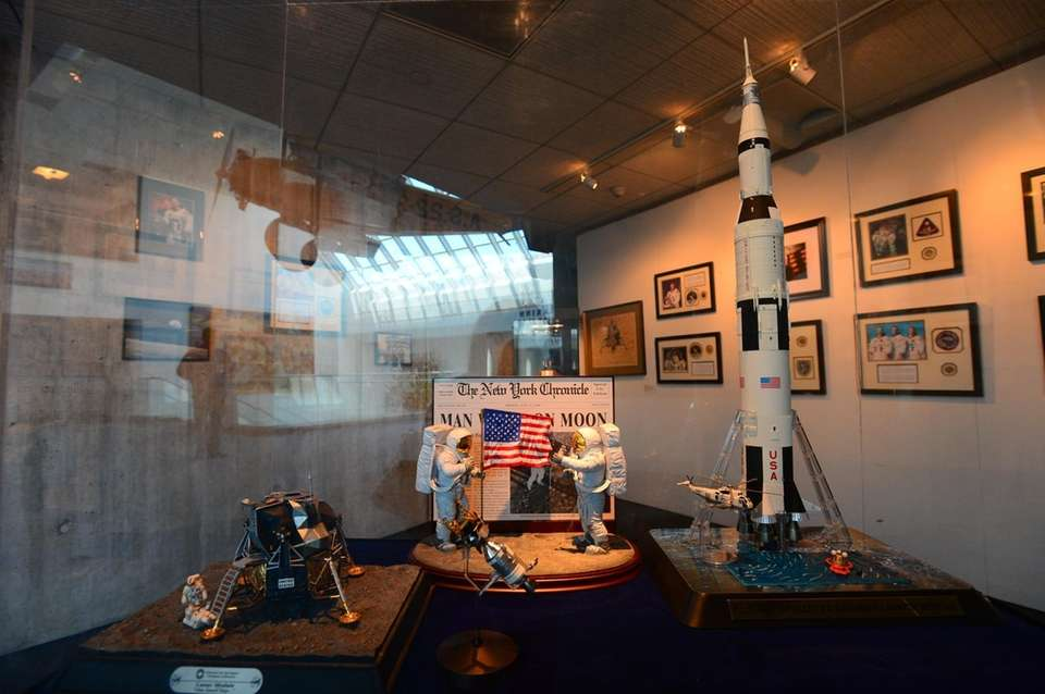 Artifacts from the Apollo moon landing on display