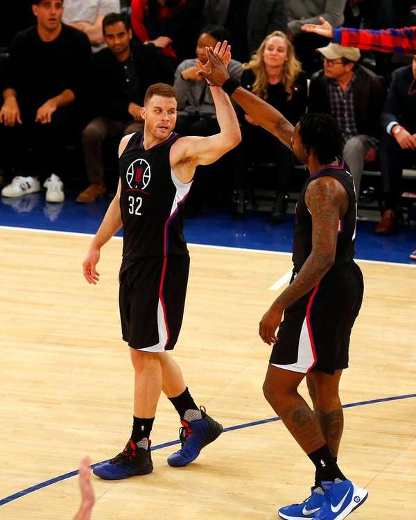 Blake Griffin and DeAndre Jordan of the Los