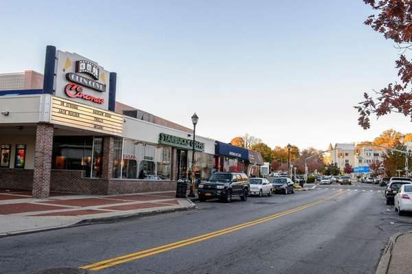 Glen Cove's downtown area, including the city's movie