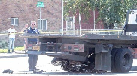 Nassau police investigate a fatal motorcycle crash in