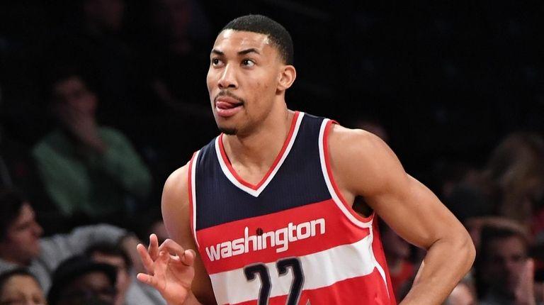 Washington Wizards forward Otto Porter Jr. reacts after