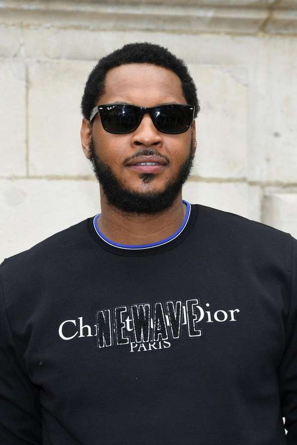 Carmelo Anthony attends the Dior Homme Menswear Spring/Summer