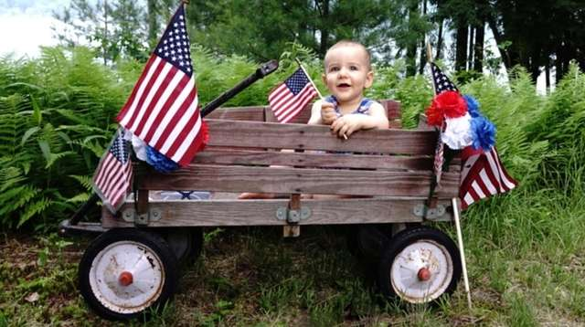 All American Baby, Raymond Sparby, celebrating the Fourth