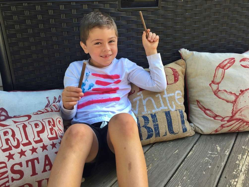 Logan Canonico, age 6 from Wading River, has