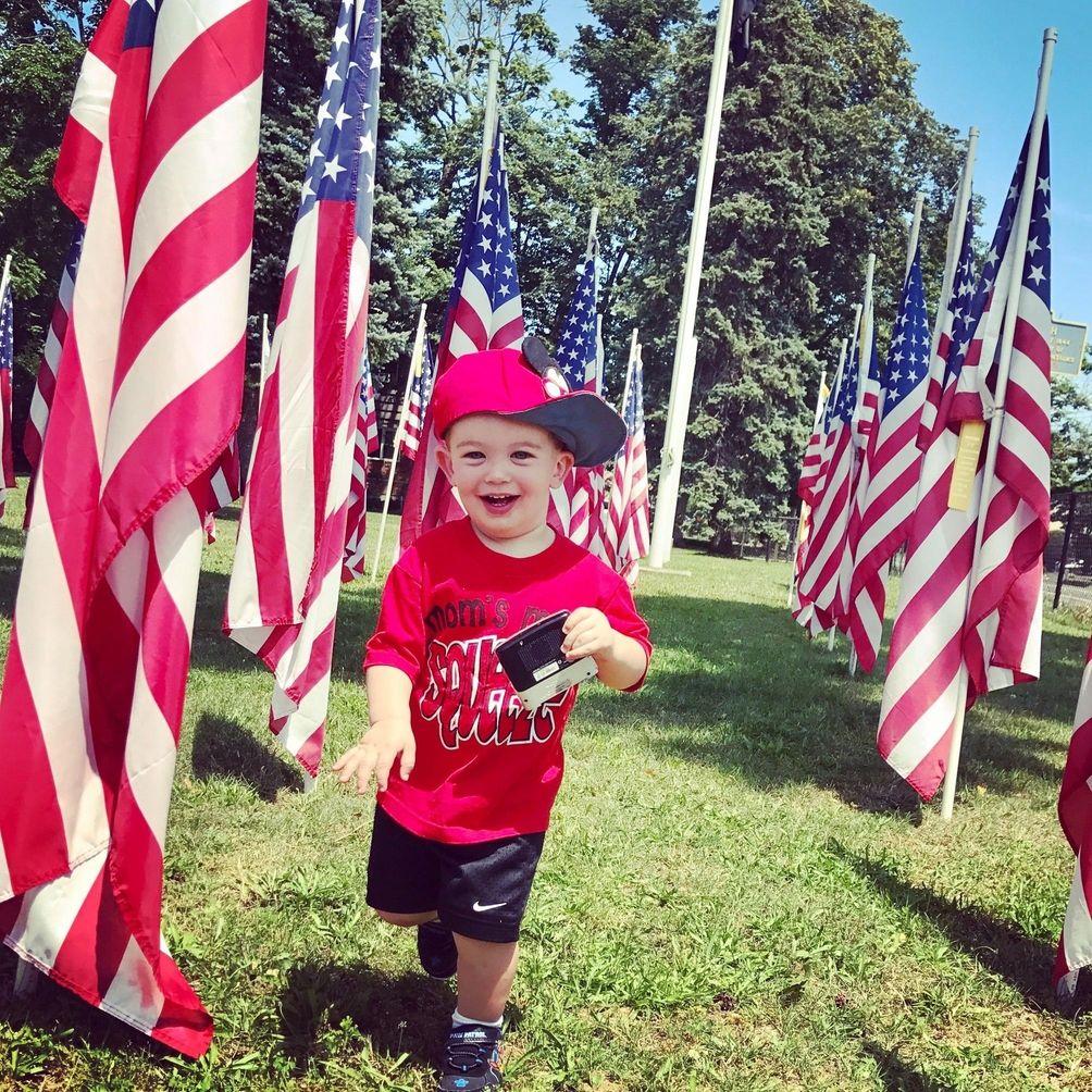 America the beautiful! ?? (Brayden, 1, admires the
