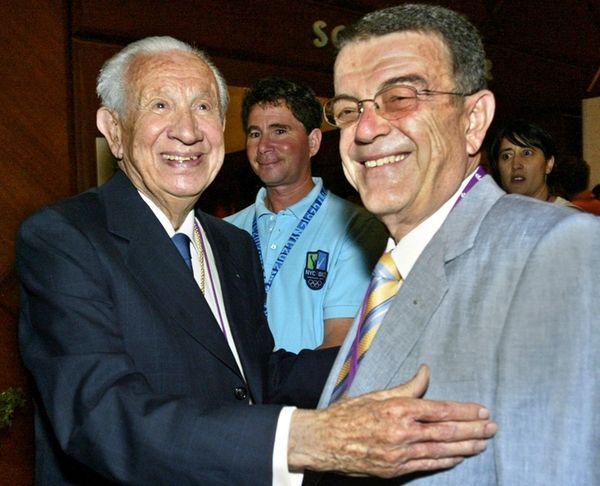 Former International Olympic Committee President Juan Antonio Samaranch,