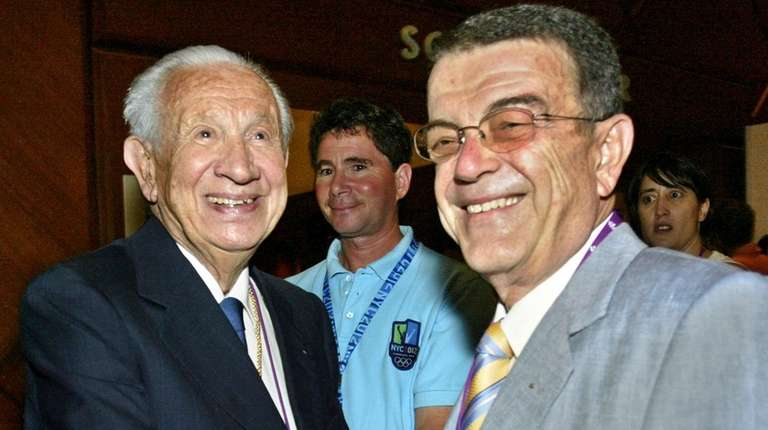 Former International Olympic Committee President Juan Antonio Samaranch,