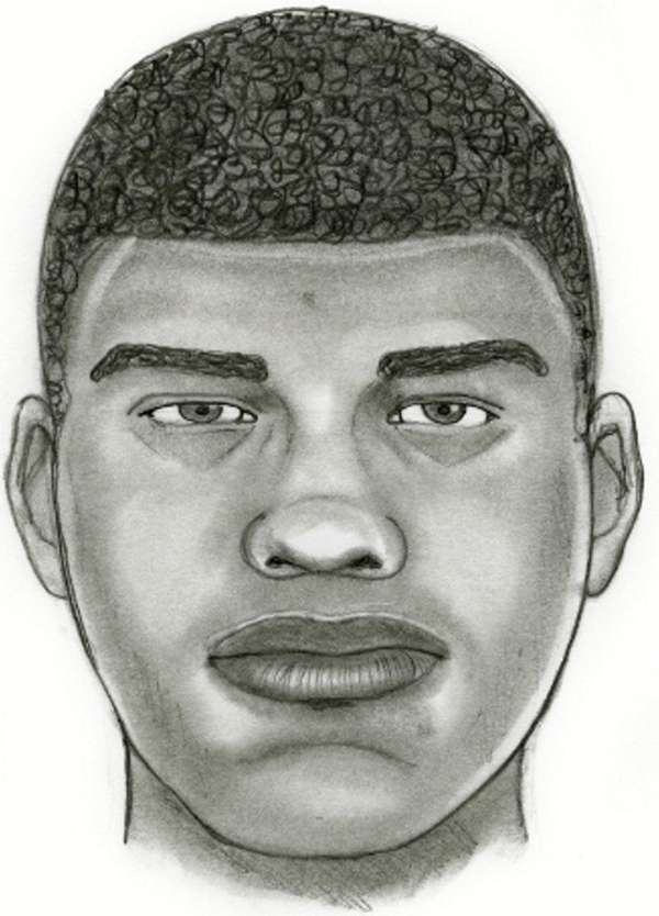 A sketch of a suspect police say attacked