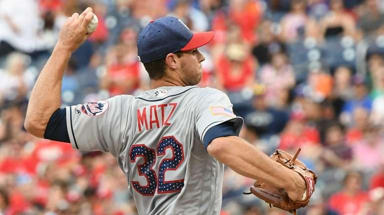 Mets' Steven Matz pitches in the second inning