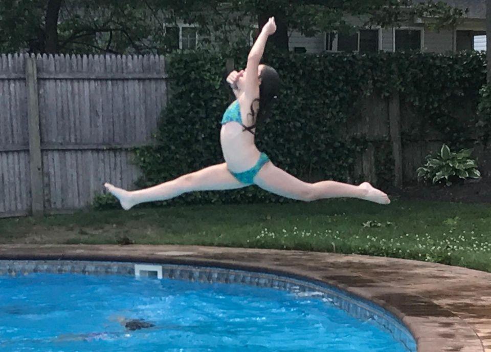 Ella Cianci enjoying the pool!