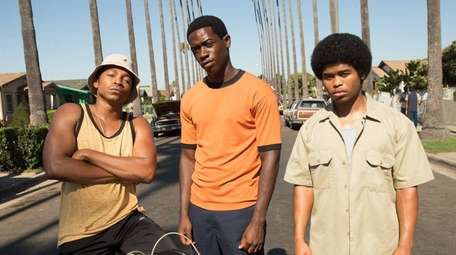 From left, Malcolm Mays, Damson Idris and Isaiah